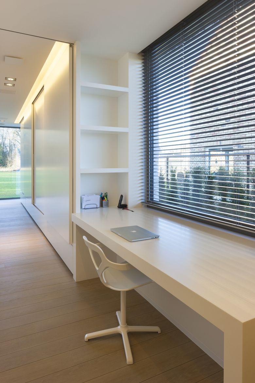 Id e bureau et tag re simplifi e pour biblioth que bureaux en 2019 bureau moderne bureau - Etageres pour salon bibliotheques bureau ...