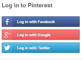 Image result for pinterest login with facebook (With