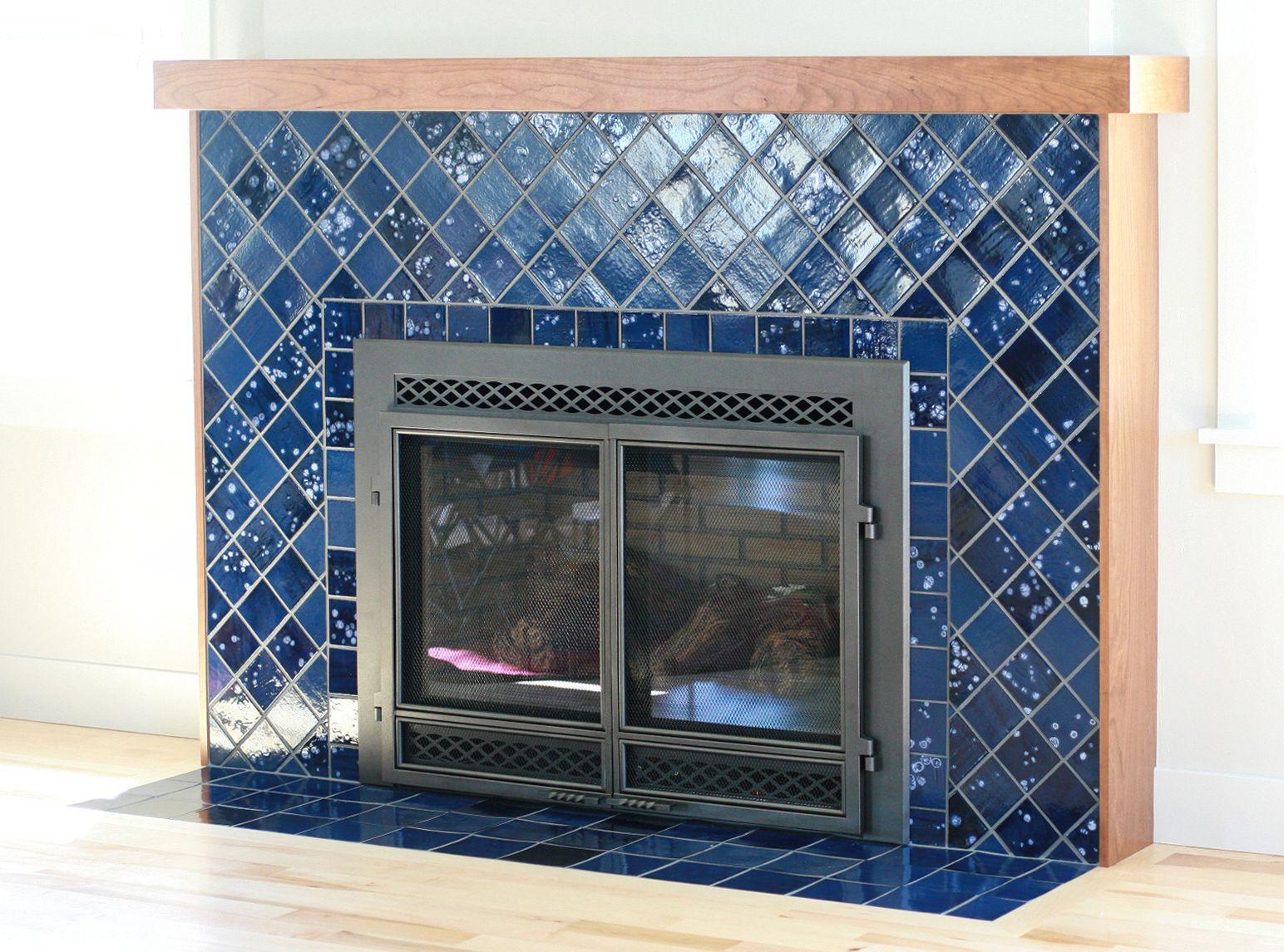 Northern Lights Tile Fireplace | Pinterest | Mosaic fireplace, Tile ...