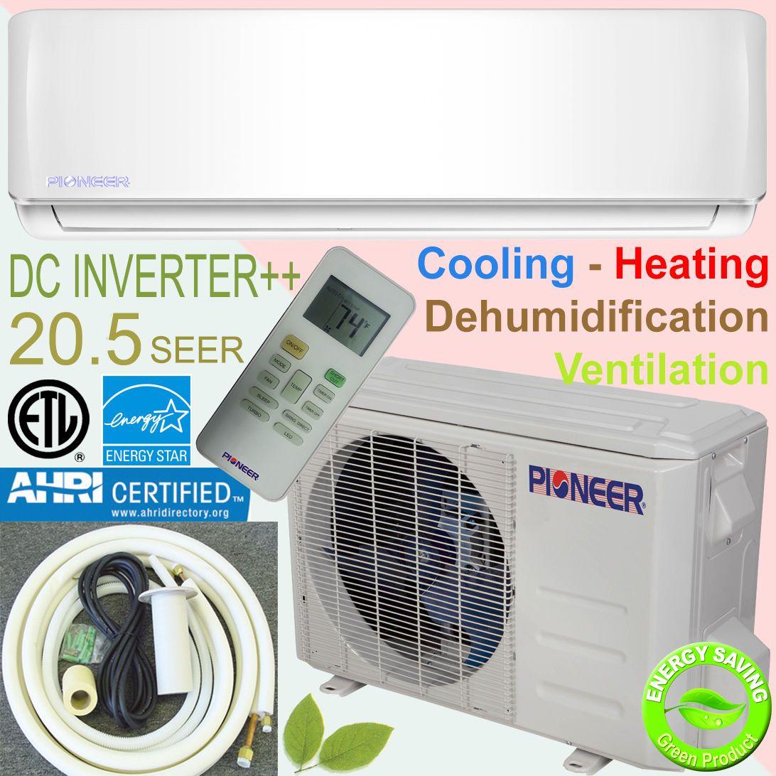 Pioneer 24000 Btu 21 Seer Inverter Ductless Mini Split Heat Pump