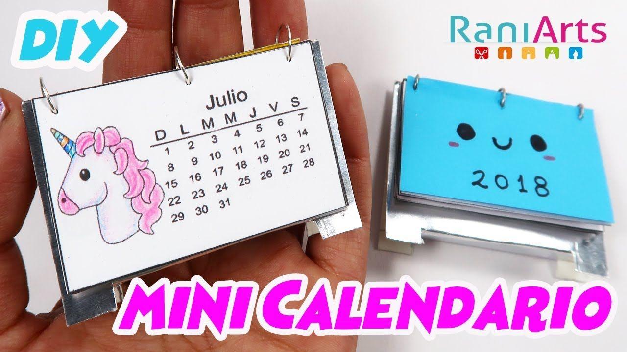 Mini Calendario.Haz Un Mini Calendario 2018 Facil Diy Mini Calendar