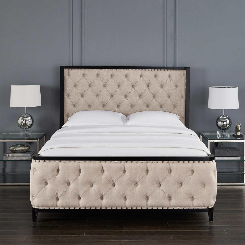 beige 1 in 2020 Upholstered bed master bedroom