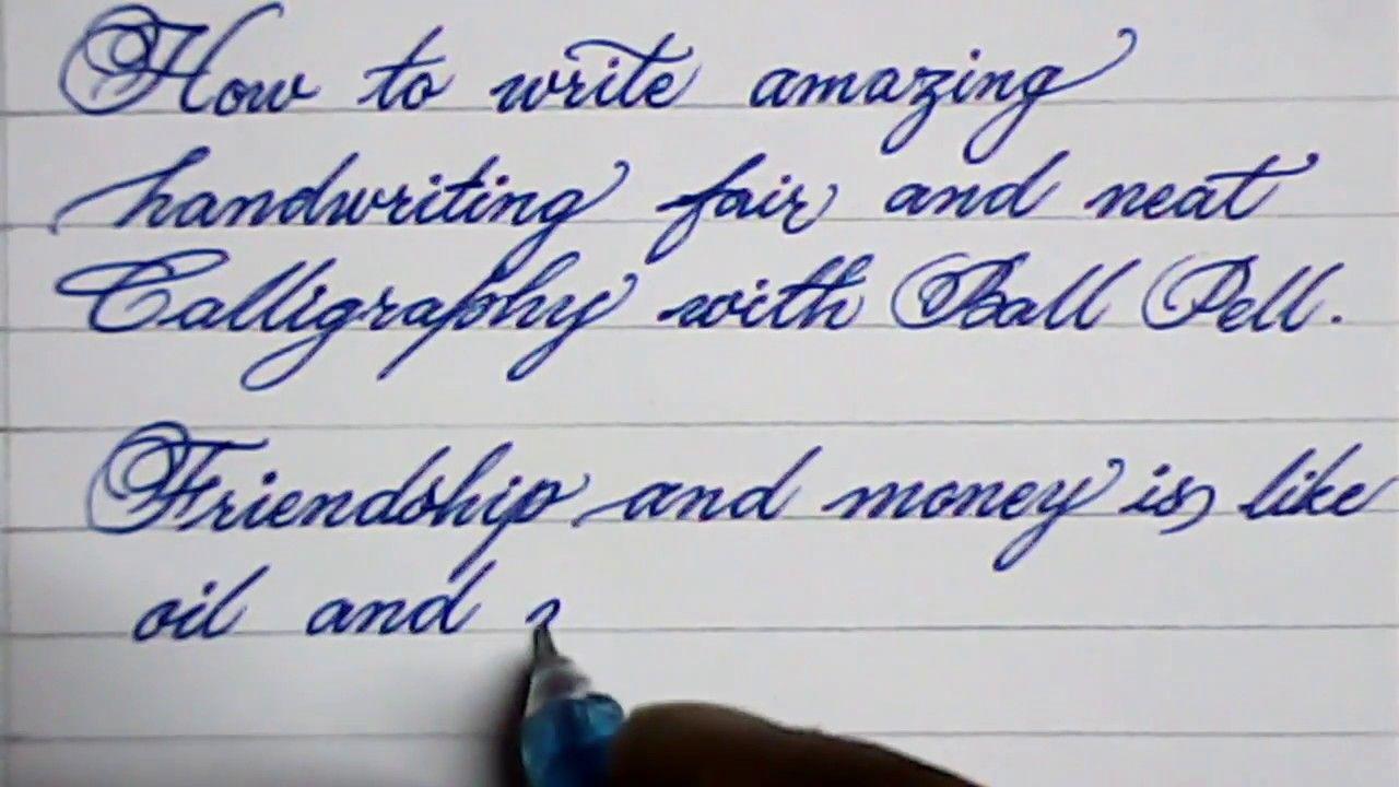 Cursive Hand Writing How To Write Neat Cursive Handwriting Mazic Writer Youtube Cursive Handwriting Improve Your Handwriting Handwriting Analysis Good cursive handwriting practice