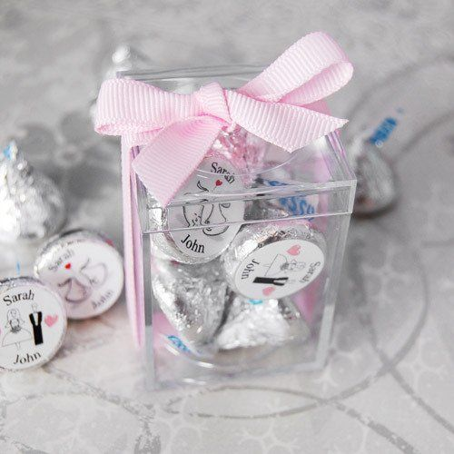 75 Square Acrylic Clear Candy Box Wedding Bridal Baby Shower Party Favors