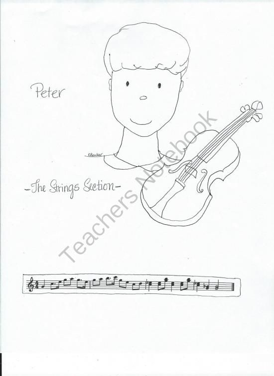 peter the wolf coloring pages with music themes from miss barkers musical materials on teachersnotebook - Peter Wolf Coloring Pages
