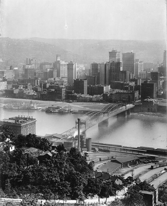 89 Best Historic Pittsburgh: View Of Downtown Pittsburgh And The Monongahela River, Ca