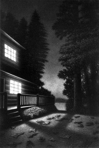 Tim Smith - Cabin  (Mezzotint)