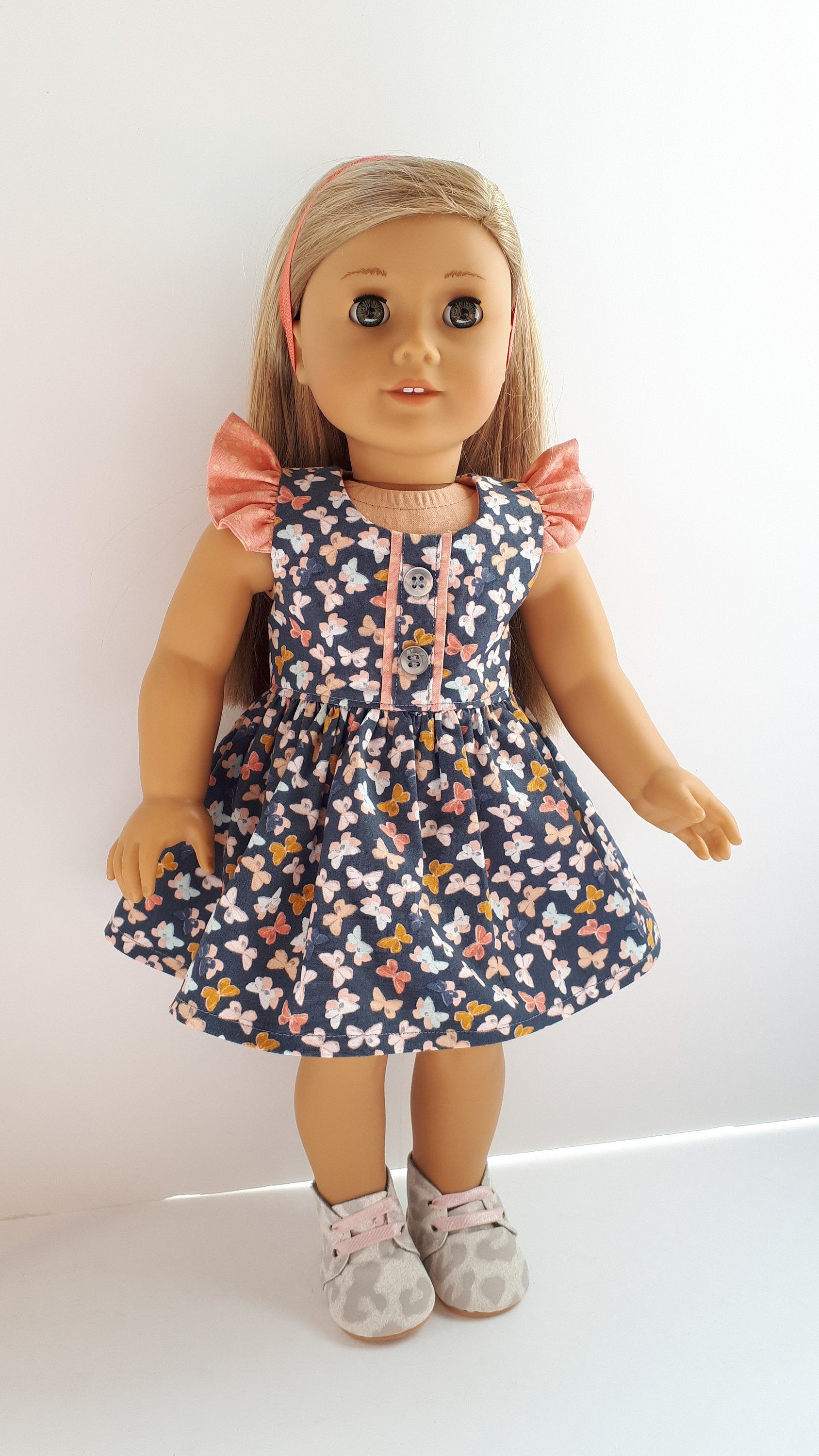 Spring Purple Dress Fits American Girl Wellie Wisher Doll Clothes