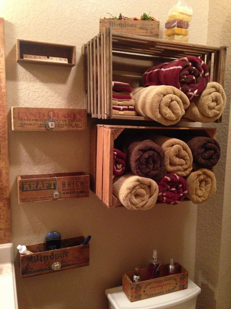 Old Wooden Crate Ideas Wood Crate Shelves Crate Shelves