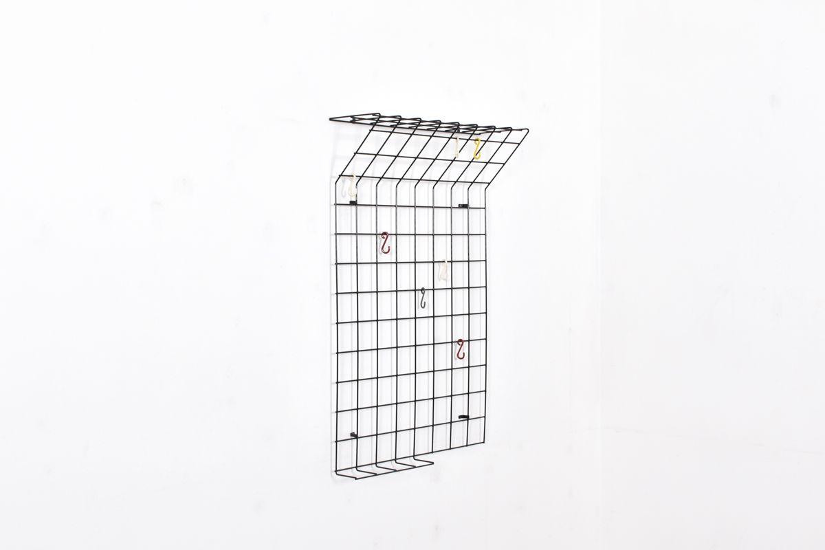 Coatrack Metal Grid Coat Rack Designed By Karl Fichtel For Drahtwerke Erlau.