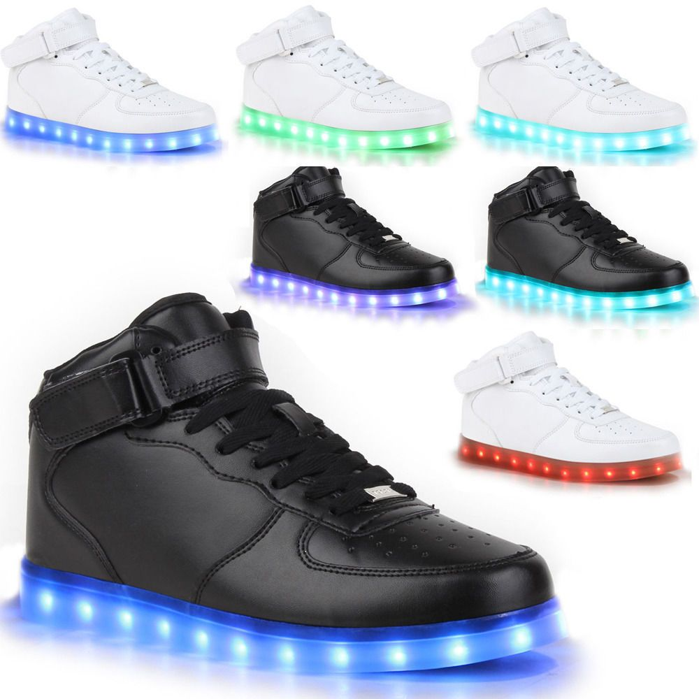 online store 8ac8f 927bd NEW 2018 High Top Sports Shoes Led Light Lace Up sneaker Luminous Casual  Shoes fashion clothing shoes accessories unisexclothingshoesaccs ...