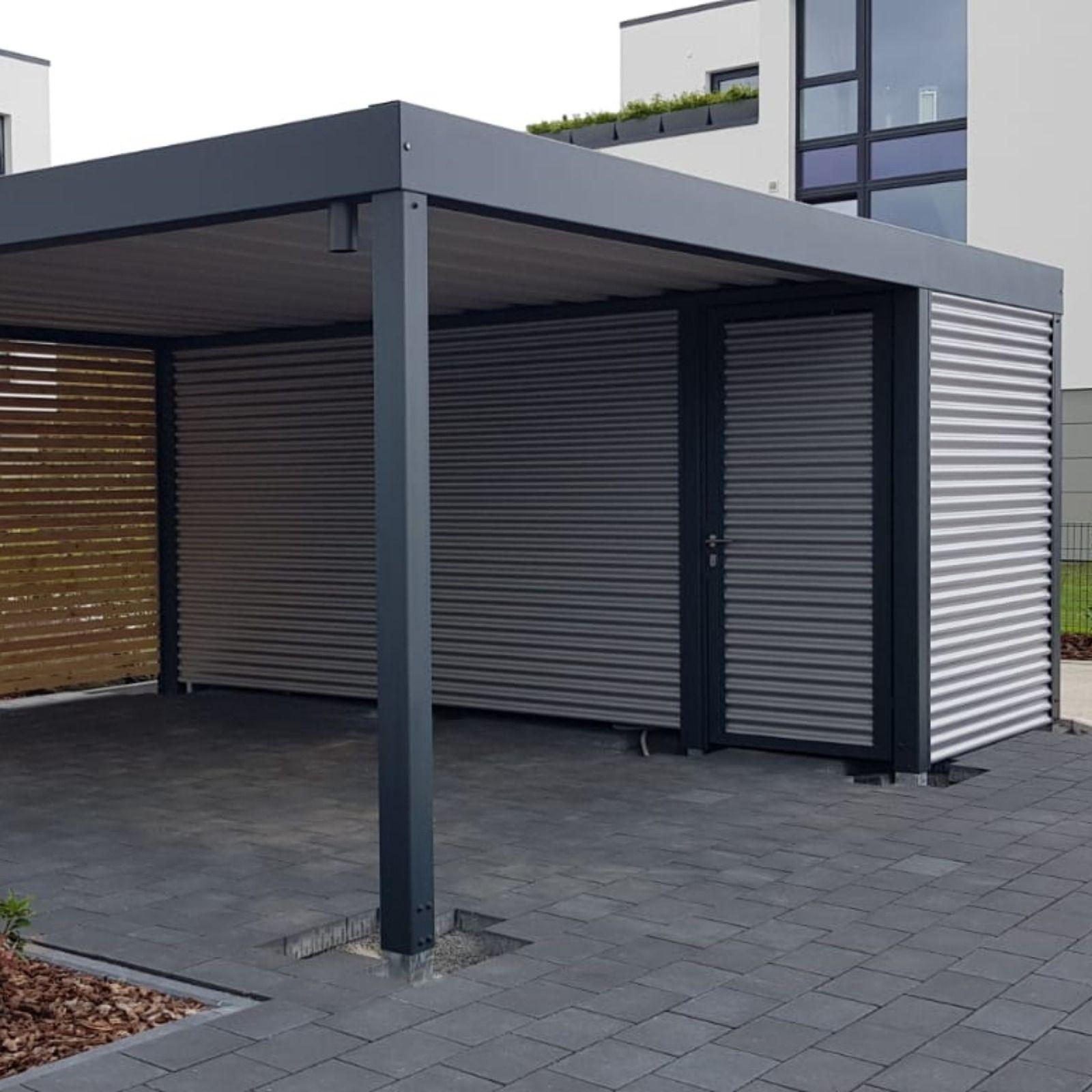 Individuelle Stahlcarports Direkt Vom Hersteller Deutschlandweit Auf Mass Gefertigtes Stahlcarport Auf Wunsch Mit Ger Stahlcarport Carport Stahl Carport