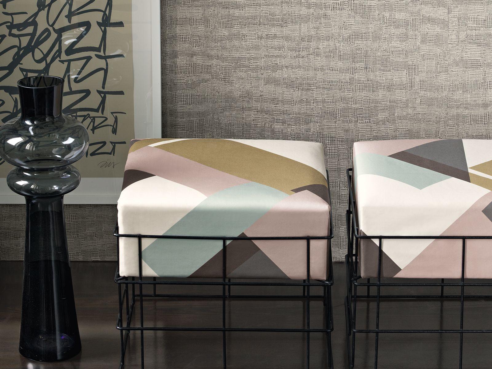 Zimmer + Rohde, living room, Wohnzimmer, Hocker, stool, geometric ...