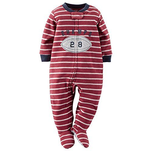 2079b278a Carters Baby Boy Fleece Pajamas 24 Months Football     You can find ...
