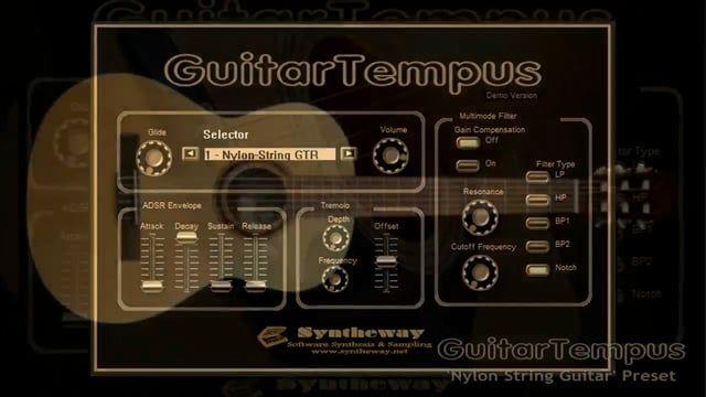 virtual acoustic guitar vst nylon string guitar preset by guitartempus vst win audio unit. Black Bedroom Furniture Sets. Home Design Ideas