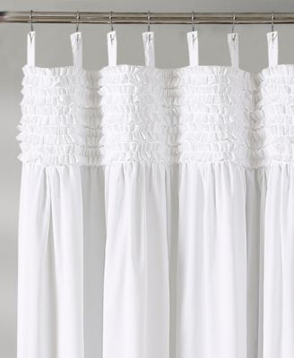 Lydia Ruffle 72 X 72 Shower Curtain Ivory Cream Ruffle