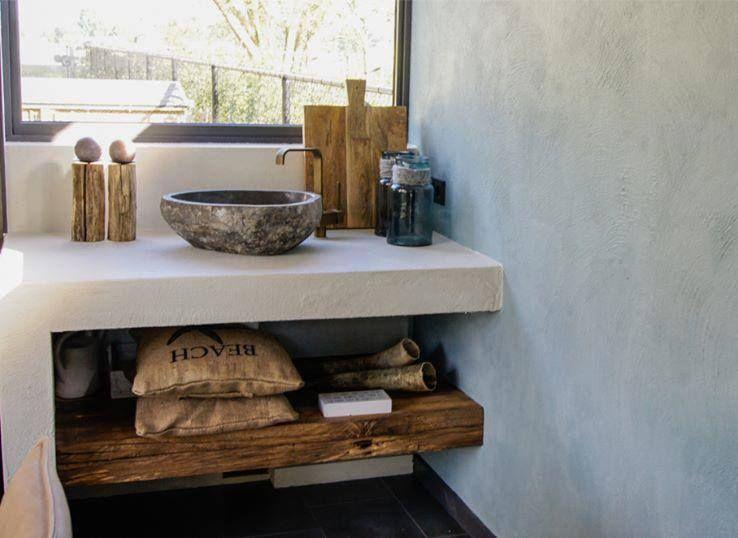 Kalkverf In Badkamer : Badkamer met natuurlijke materialen én kalkverf! verkrijgbaar bij