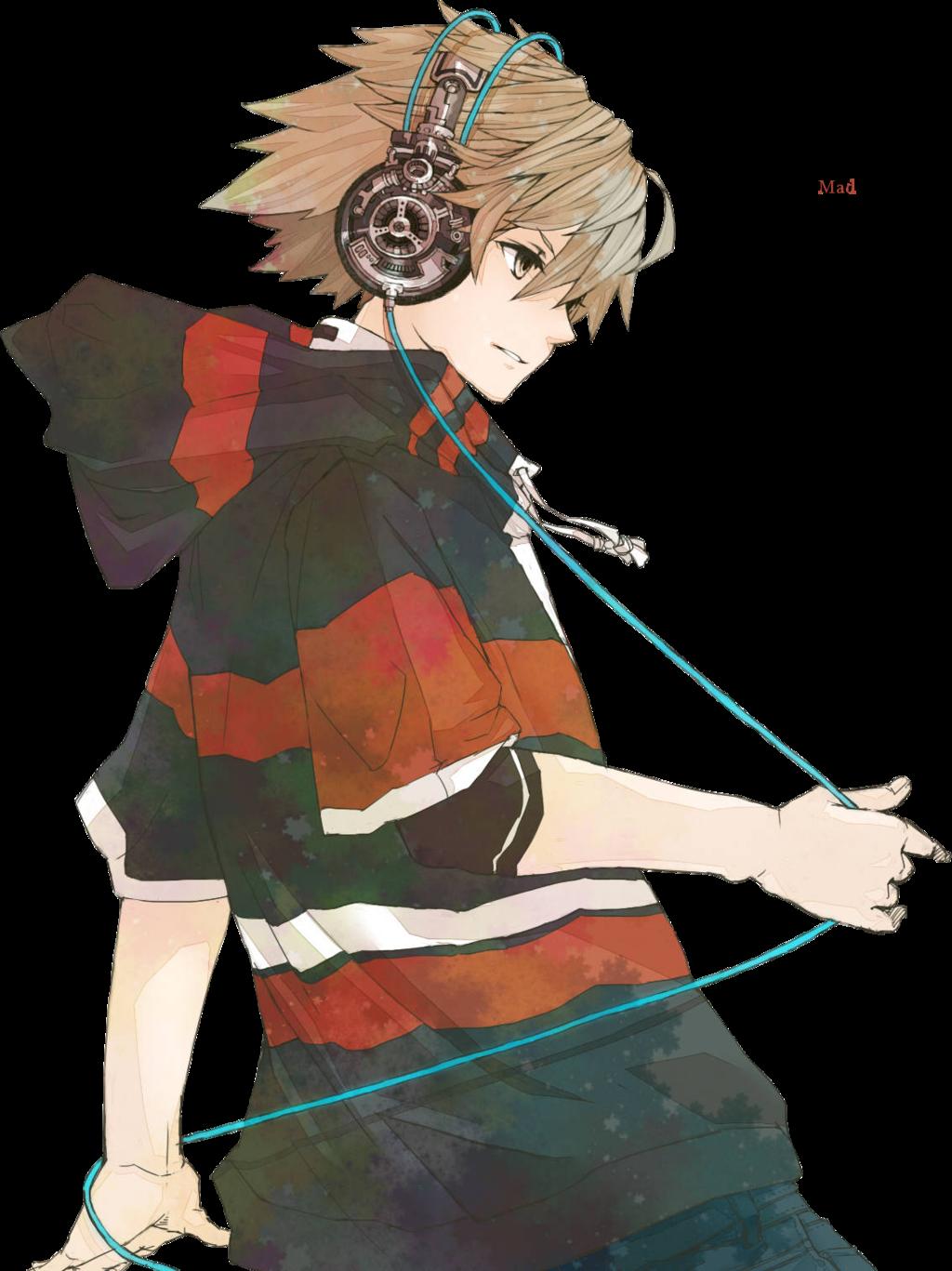 Chico anime con audifonos Chicas anime, Personajes de anime