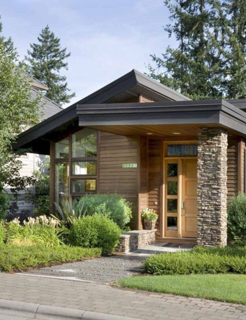 Pretty Small House Design Architecture Ideas22 In 2019 Flat Roof