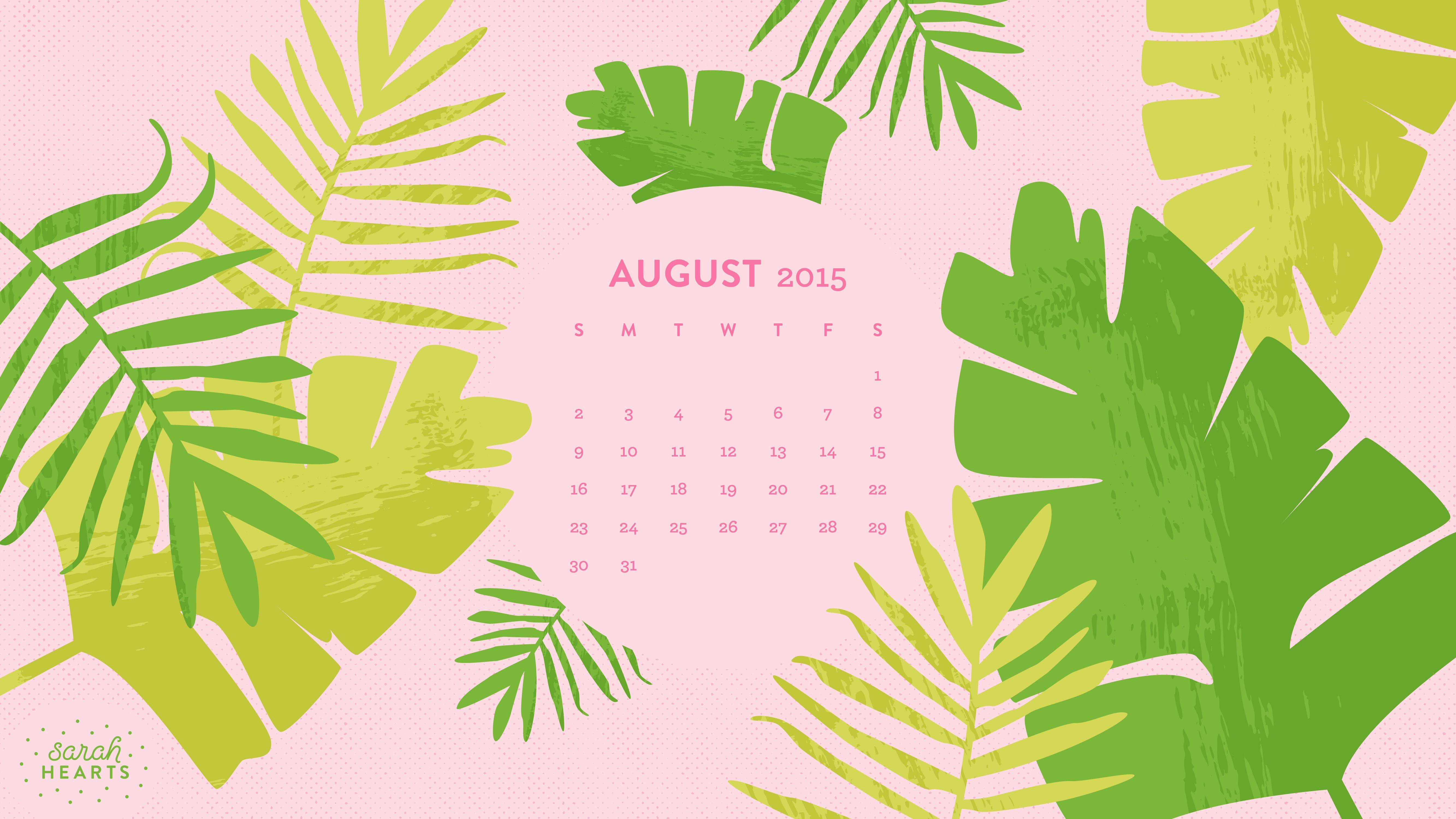 August2015 Wallpaper Calendar Computer 5333x3000
