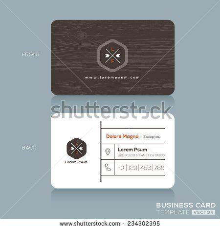 Modern business card design template with dark wood background modern business card design template with dark wood background wajeb Gallery