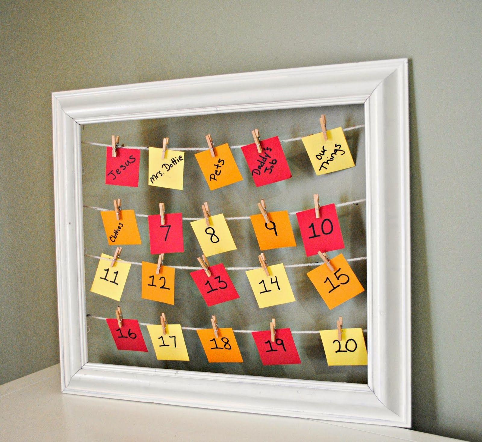 Gingerly Made: Thanksgiving Countdown Calendar