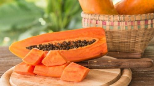 Papaya is a rich source of antioxidants like carotene, vitamin C, and flavonoids and rich in vitamin B's, folate and pantothenic acid.