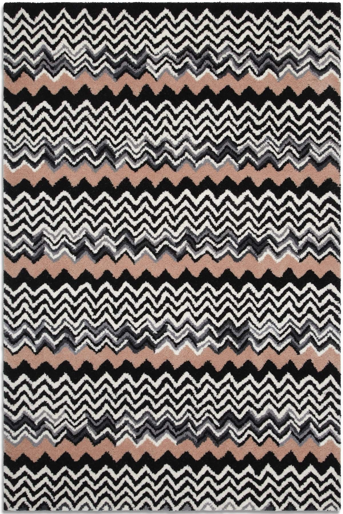 Aztec Rug Azt04 Plantation Rugs Contrasting Colours Zig Zag Together To