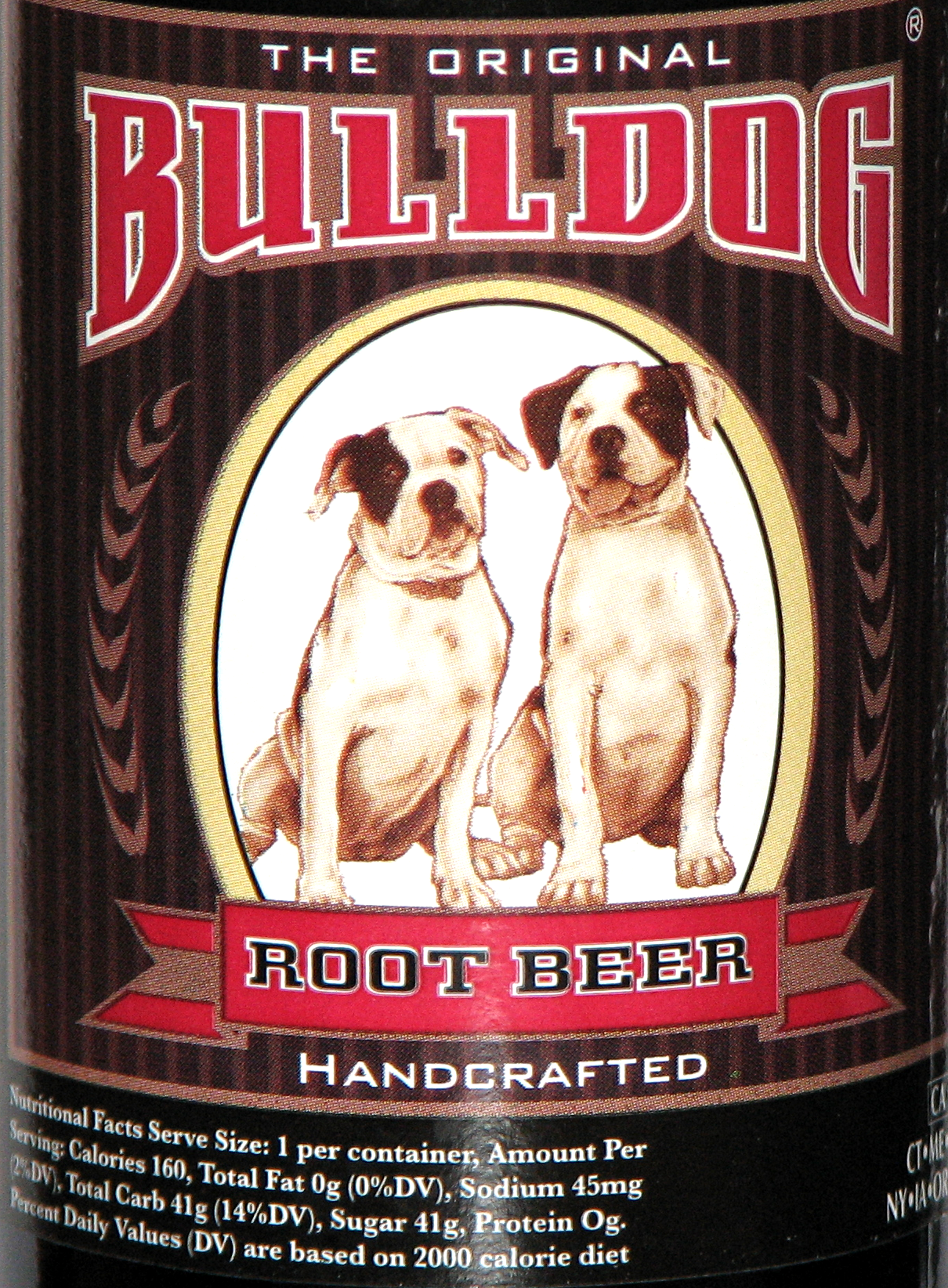 Bulldog Root Beer Label Unleash The Taste The Original Bulldog
