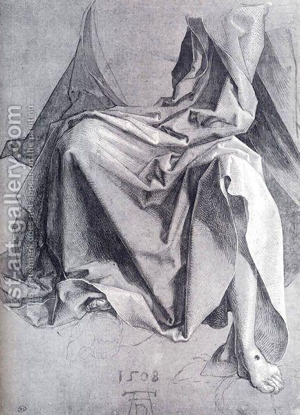 Albrecht DurerStudy Of Drapery 1508 Drawing