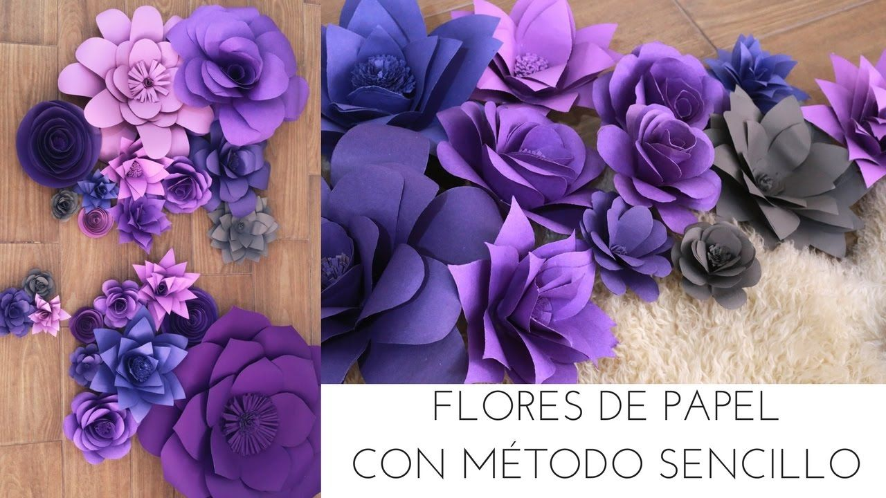 Impresionantes flores de papel para decorar manualidades - Youtube manualidades de papel ...