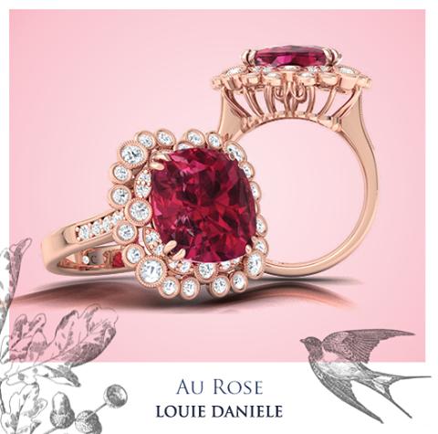 Visit www.louiedaniele.com #louiedaniele #louiedanielediamonds #diamondring #engagement #AuRose #AuCollection #SheSaidYes