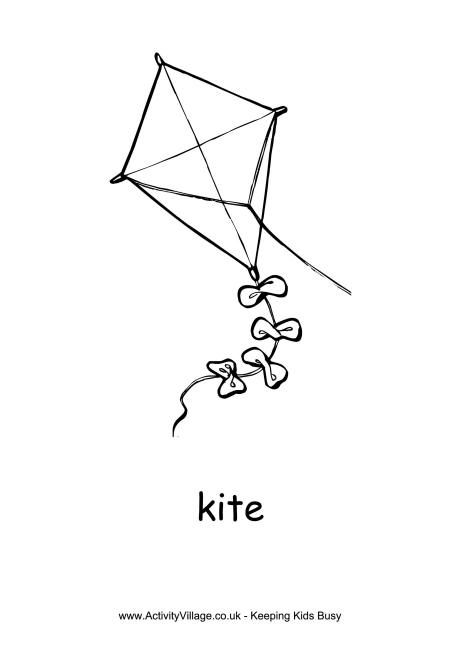 Kite Colouring Page Coloring Pages Colouring Pages Kite