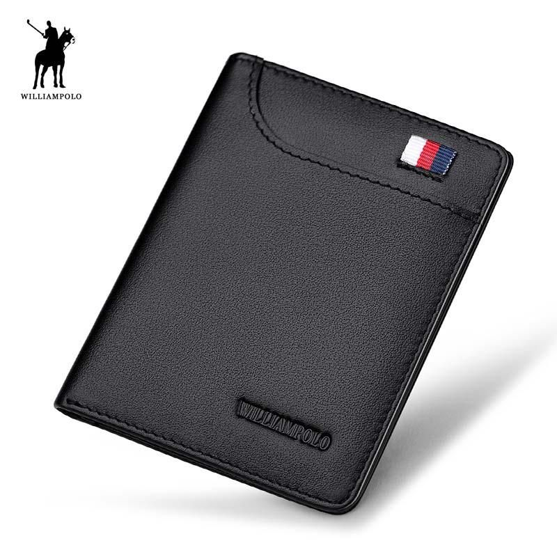 WILLIAMPOLO Mens Wallet Slim Business Card Credit Card Card Holder ...