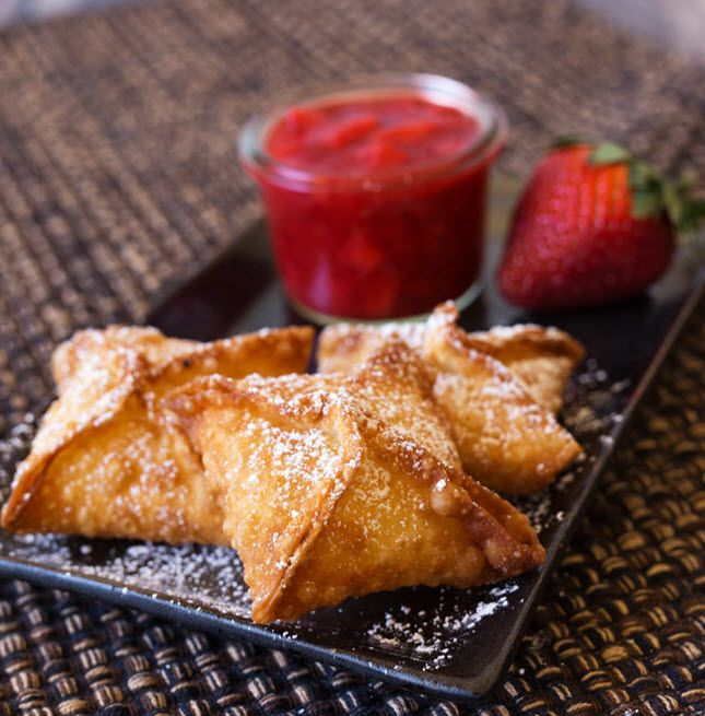 Whip up a batch of Strawberry Cheesecake Wontons for dessert.