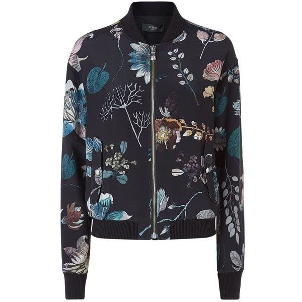 Versus Versace Floral Silk Bomber Jacket ($905) ❤ liked on Polyvore featuring outerwear, jackets, floral bomber jacket, floral print jacket, silk bomber jacket, flight bomber jacket и floral print bomber jacket