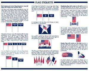 Old Glory And Proper Flag Etiquette Flag Etiquette American Flag Etiquette Us Flag Etiquette