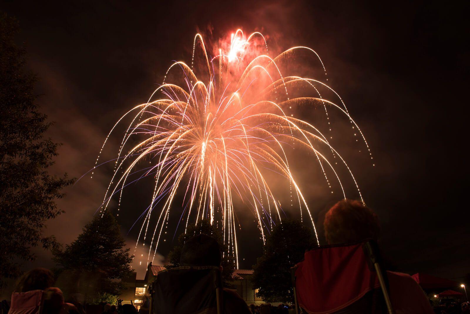 4th of july community fireworks fireworks gettysburg