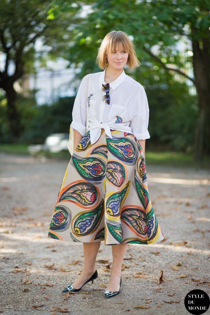 Vika Gazinskaya Street Style Street Fashion Streetsnaps by STYLEDUMONDE Street Style Fashion Blog