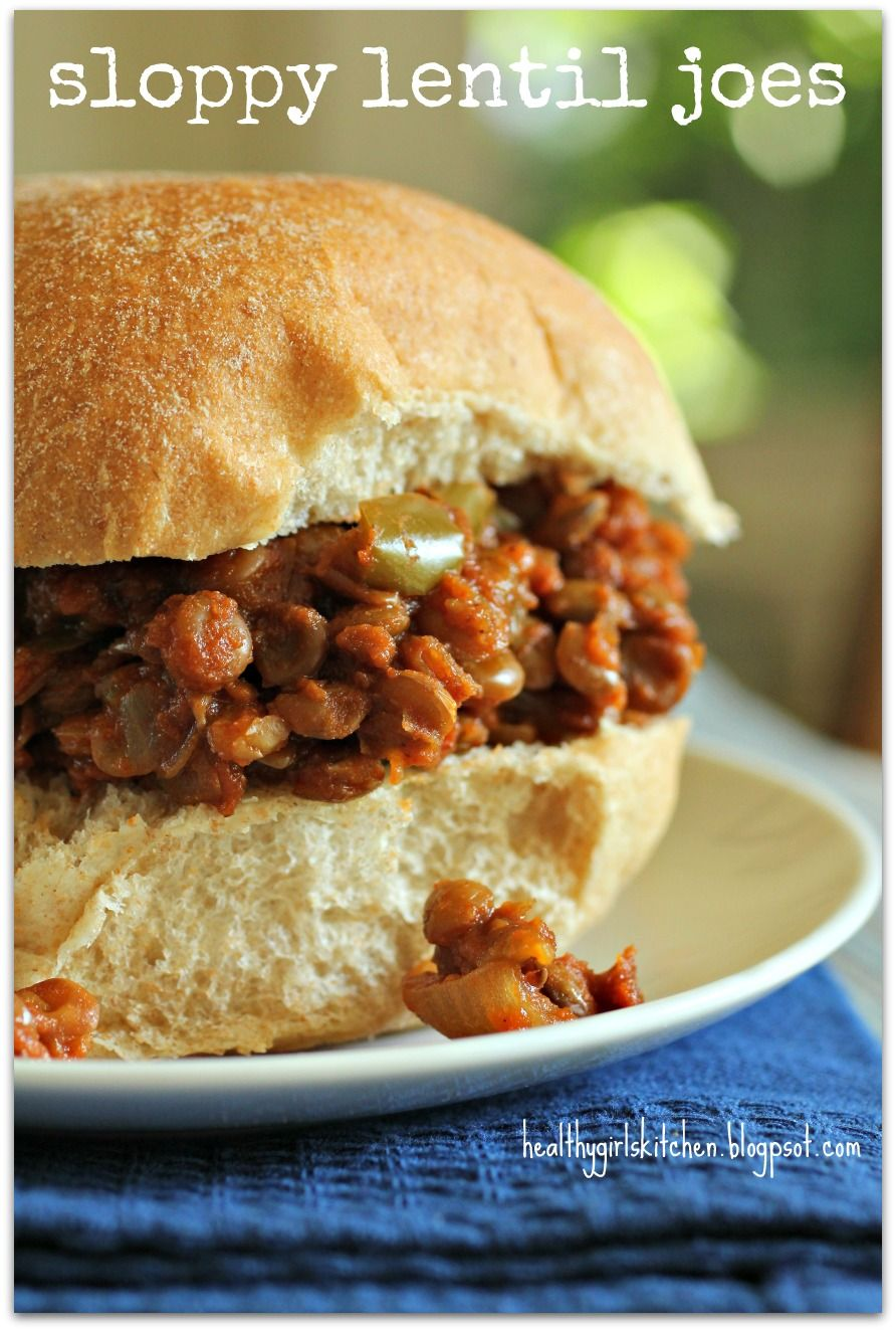 Sloppy Lentil Joes - a Dr. McDougall recipe - Sloppy Joes is easily one of my favorite things, think i'm going to at least give this one a try for mike...