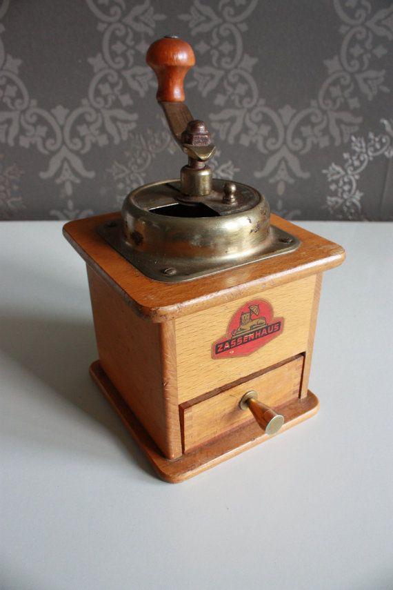 Pretty And Functional German Coffee Grinder Zassenhaus Etsy Antique Coffee Grinder Coffee Grinder Coffee Bean Grinder