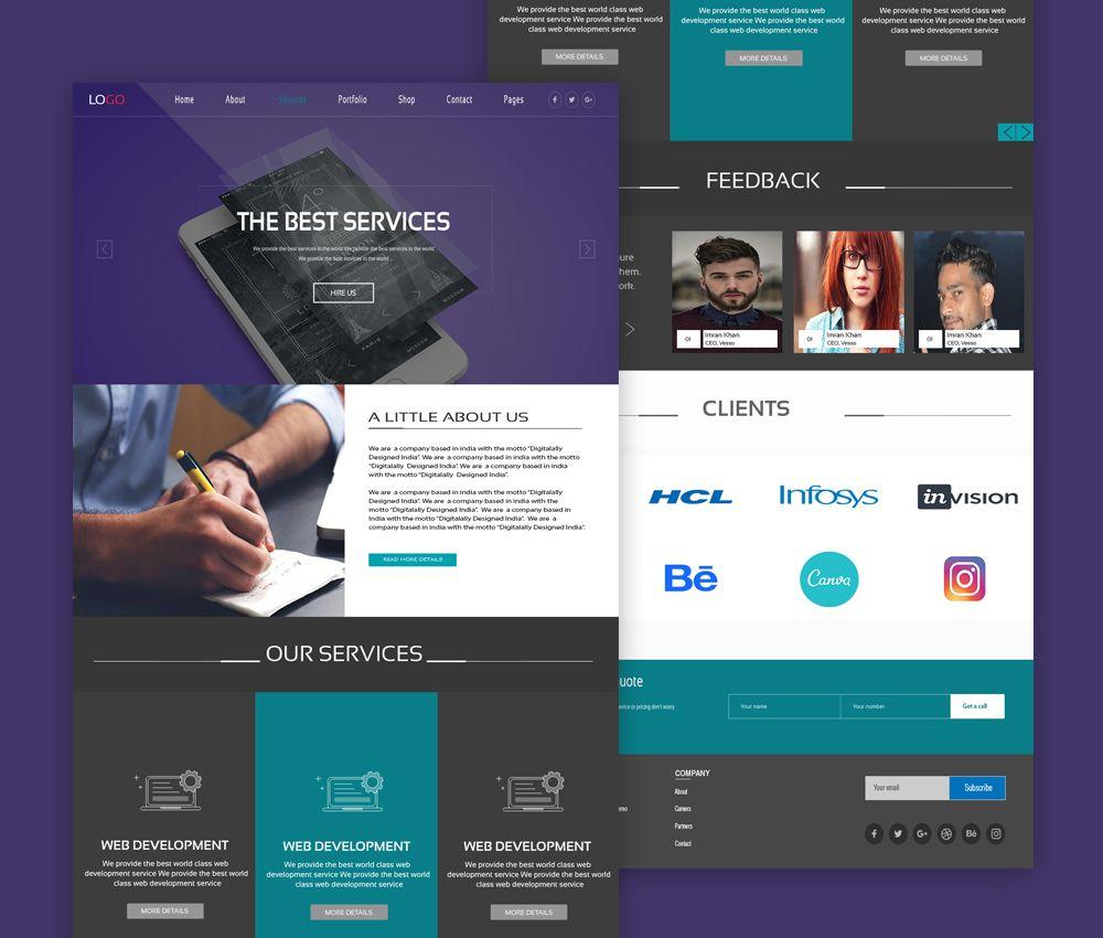 Nice Web Design Services Website Template Psd Download Web Design Services Website Template Psd This Is A Fre Web Design Services Website Template Web Design