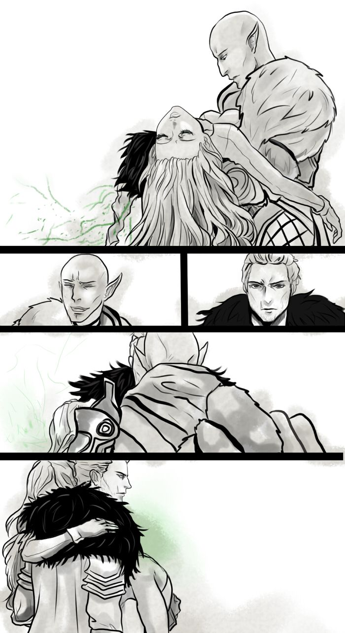 My poor Lavellan, Wolf and Knight Illustration to one fanfic ( DLC