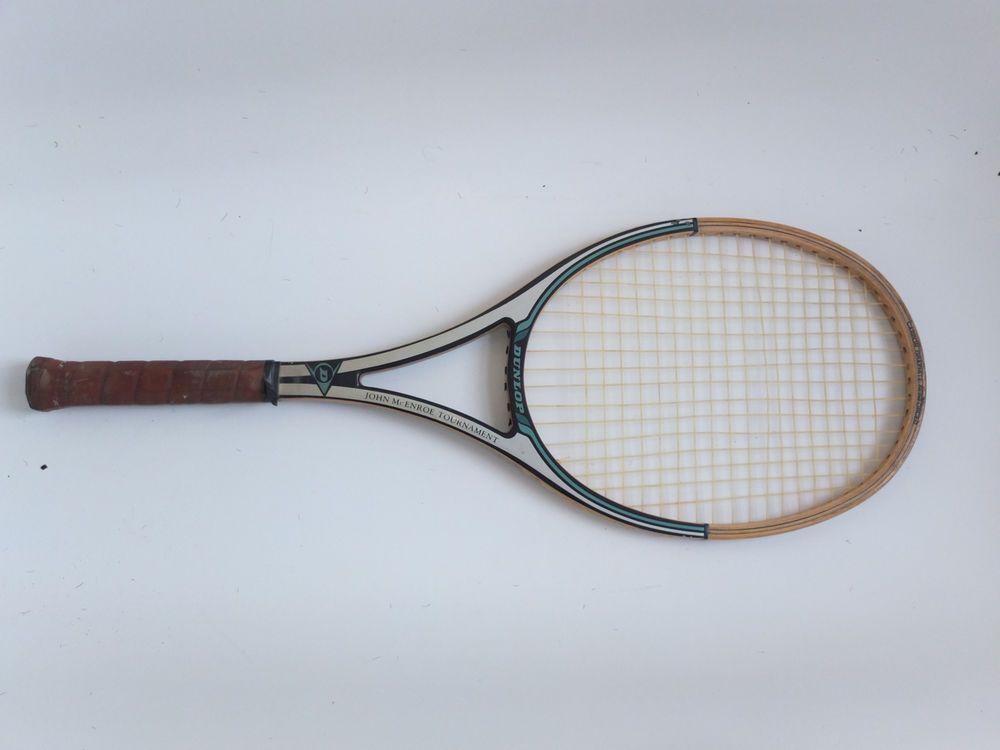 John McEnroe Dunlop Tournament Tennis Racquet Wooden ...
