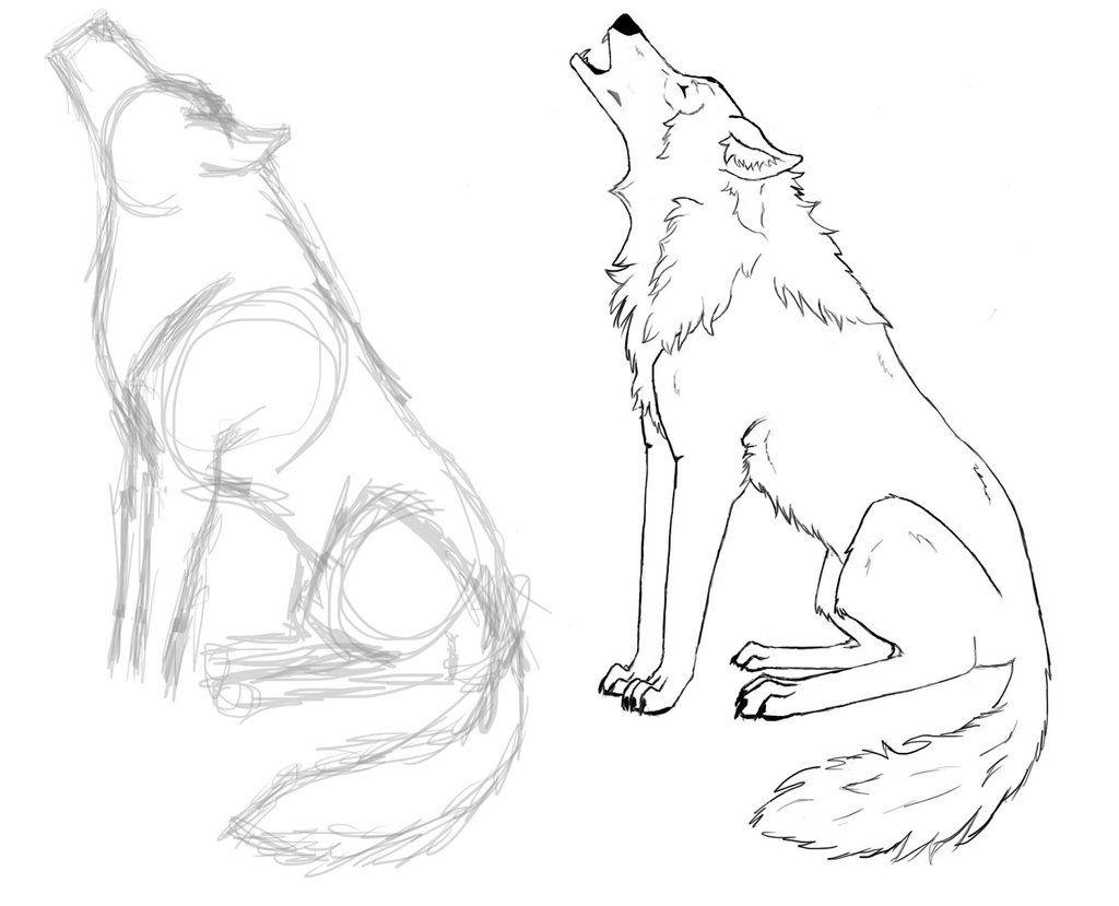 сидящий волк рисунок карандашом мой взгляд, берет