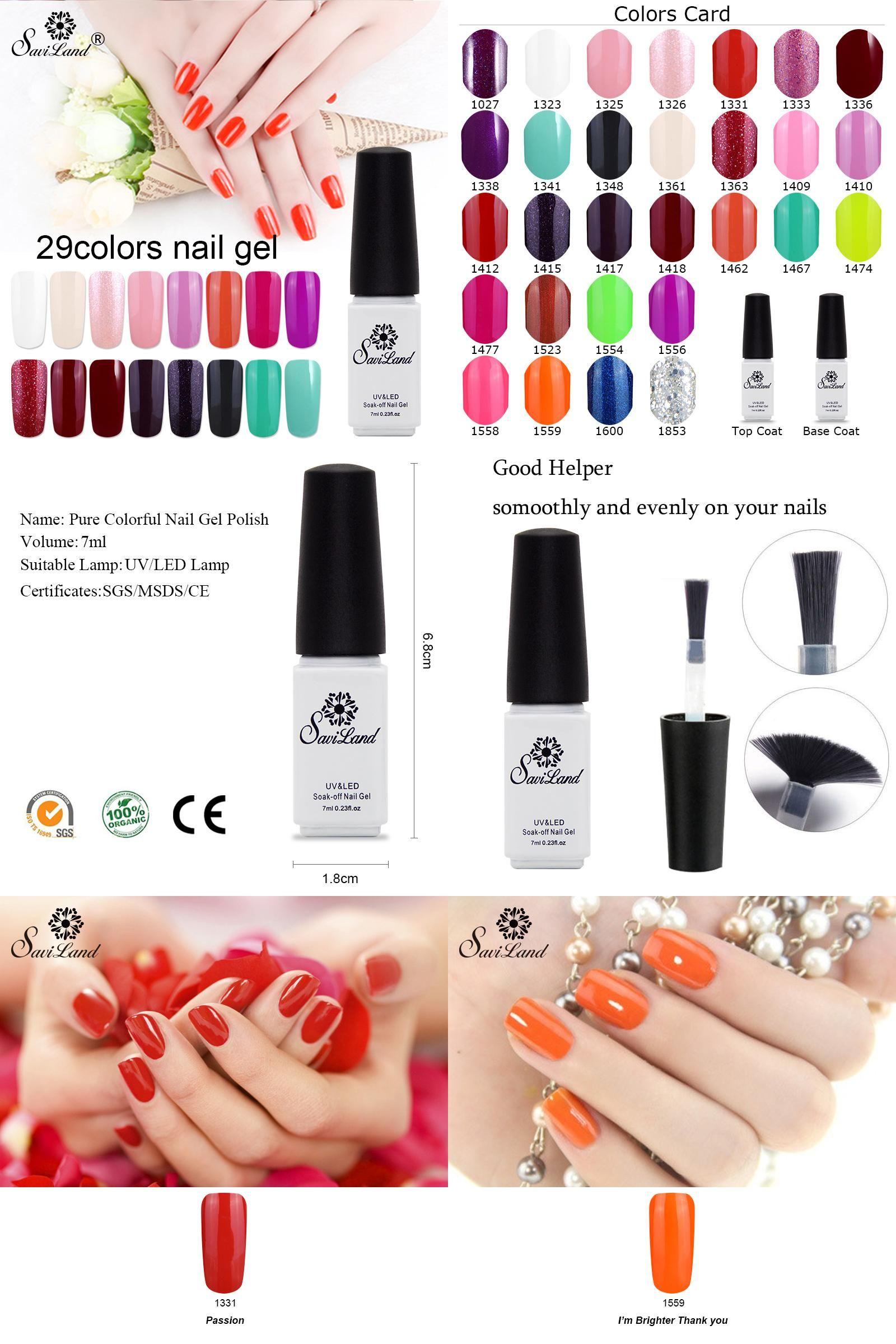 Visit To Buy Saviland 1pcs 7ml 29 Colors Nail Gel Soak Off Uv Gel