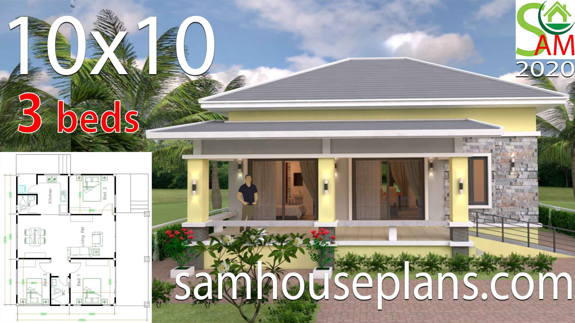 Find Your House Plans Below - House Plans 3d in 2020 | Small house design,  Small house design plans, Small house