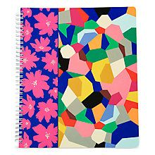 This three-subject notebook is both pretty and practical. Featuring one of our colorful prints, it has a durable cover; wire-bound, perforated, college-ruled pages; and three colorful dividers with large slip pockets on each side.