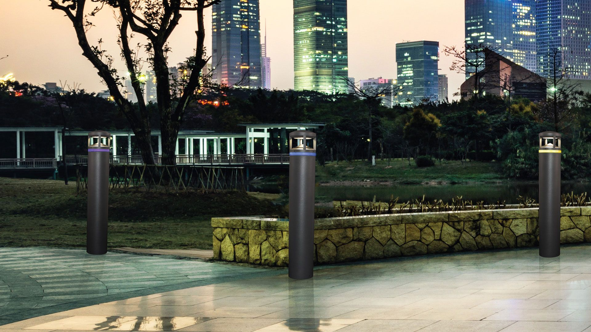 Pavillon Family Bollards Commercial Outdoor Lighting