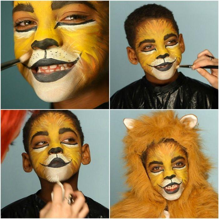 maquillaje halloween hombre, tutorial para maquillaje de leon niños - maquillaje de halloween para nios